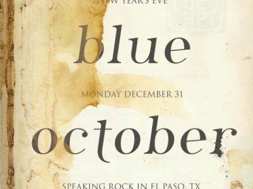 Blue October NYE Poster