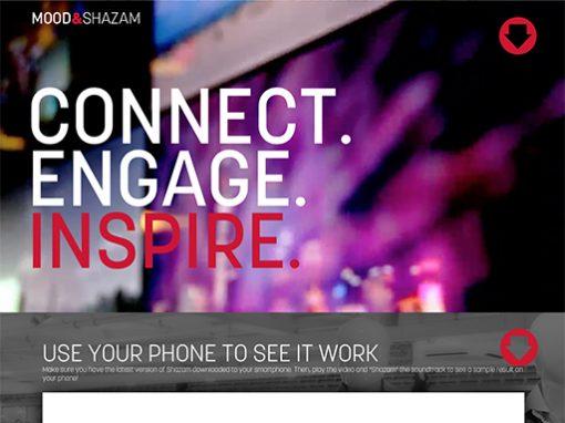 Mood Shazam Landing Page