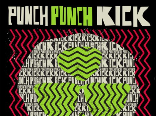 Punch Punch Kick Skull Tee