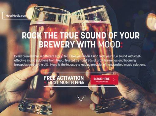 Mood Microbrew Landing Page